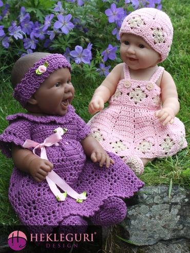 dukkeklær-hekleoppskrift
