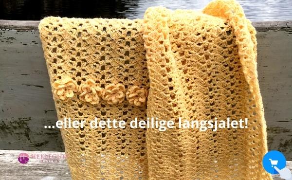 hekleoppskrift-skjerf-gult