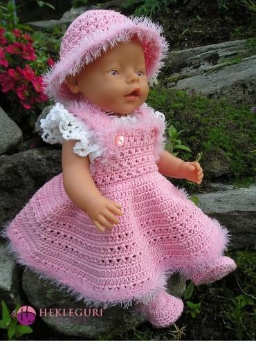 dukkeklær-hekleoppskrift-pdf-dukkekjole-babyborn